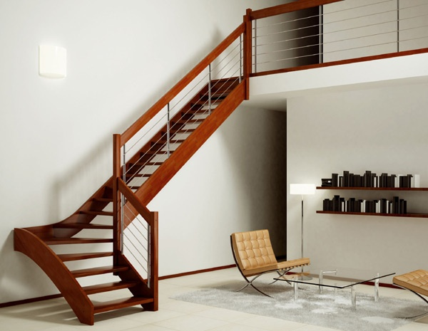 Escaleras de interiores ideas para decorar dise ar y for Barandillas de escaleras interiores