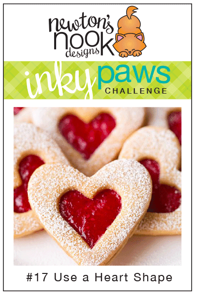Inky Paws Challenge #17 - use a Heart Shape | Newton's Nook Designs