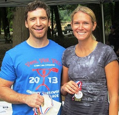 Aaron Fanetti and Beth Sanborn at Conquer Castlewood