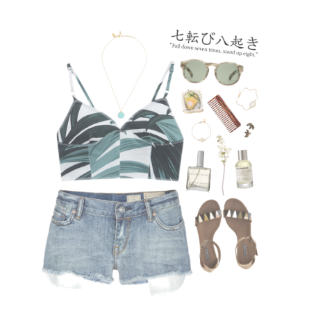 outfit fashion tropical shorts