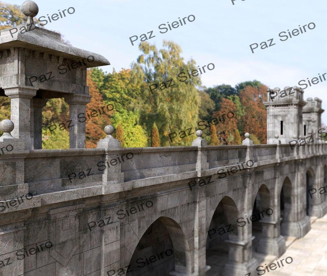 Works 3d p rtico de entrada ao antigo pazo episcopal for Porticos sa