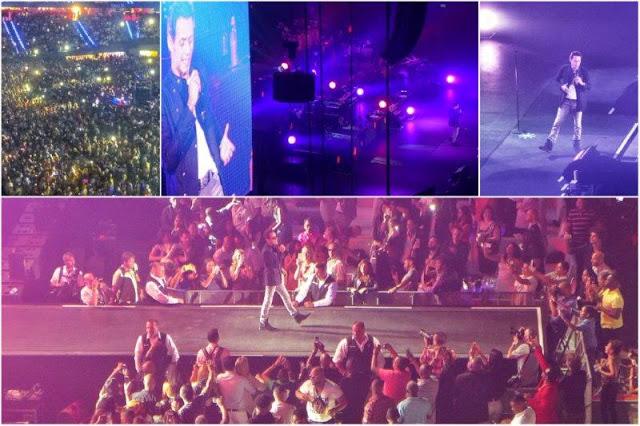 Marc Anthony en concierto el 18 de julio del 2015 en el Ahoy de Rotterdam