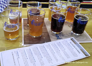 Blue Spruce Brewing taster flight