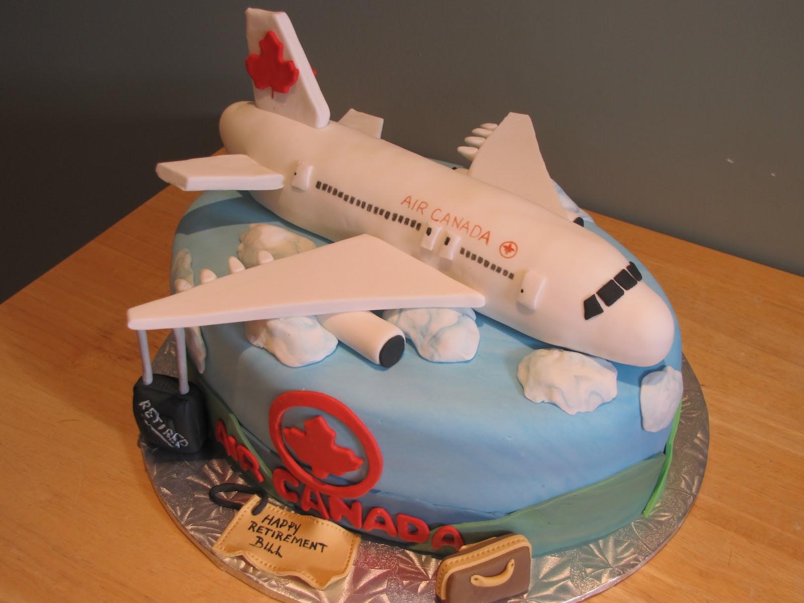 Ann marie 39 s creative cakes air canada 330 airplane for Airplane cake decoration