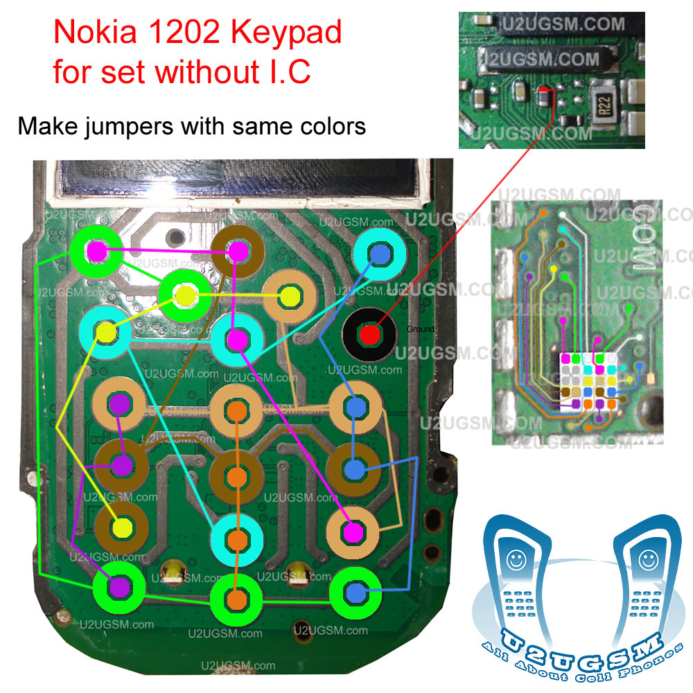 Mobile Phone Fix User Manual And Applications   Nokia 1203 Keypad Ways Track Jumpers With Ic