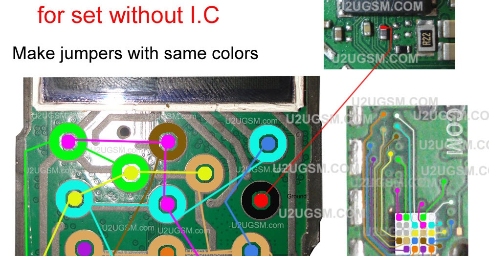 Nokia 1203 Keypad Ways Track Jumpers With Ic Links 100