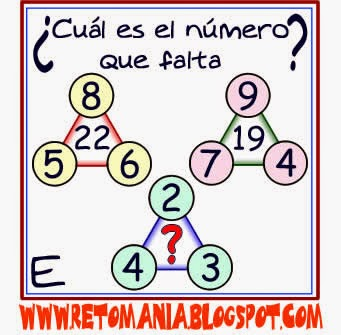 Descubre el Número, El número que falta, Retos matemáticos, Desafíos matemáticos, Para pensar, Sólo para Genios, Problemas de lógica, Piensa Rápido