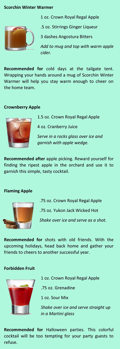 Additional Recipes for Your Crown Royal Regal Apple Enjoyment