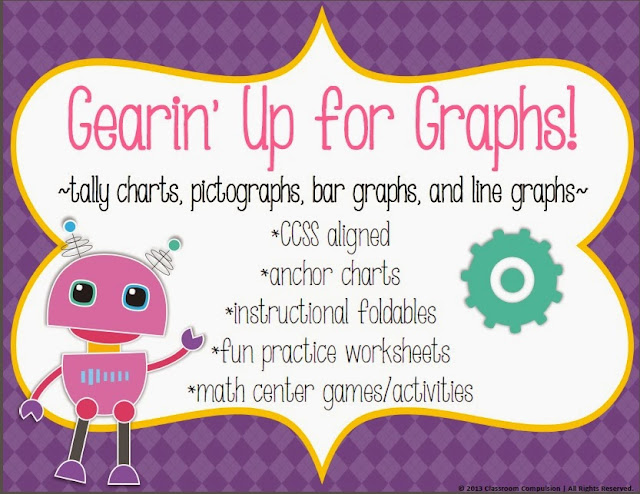 http://www.teacherspayteachers.com/Product/Gearin-Up-for-Graphs-Pack-CCSS-line-bar-graphs-pictographs-tally-charts-1003294