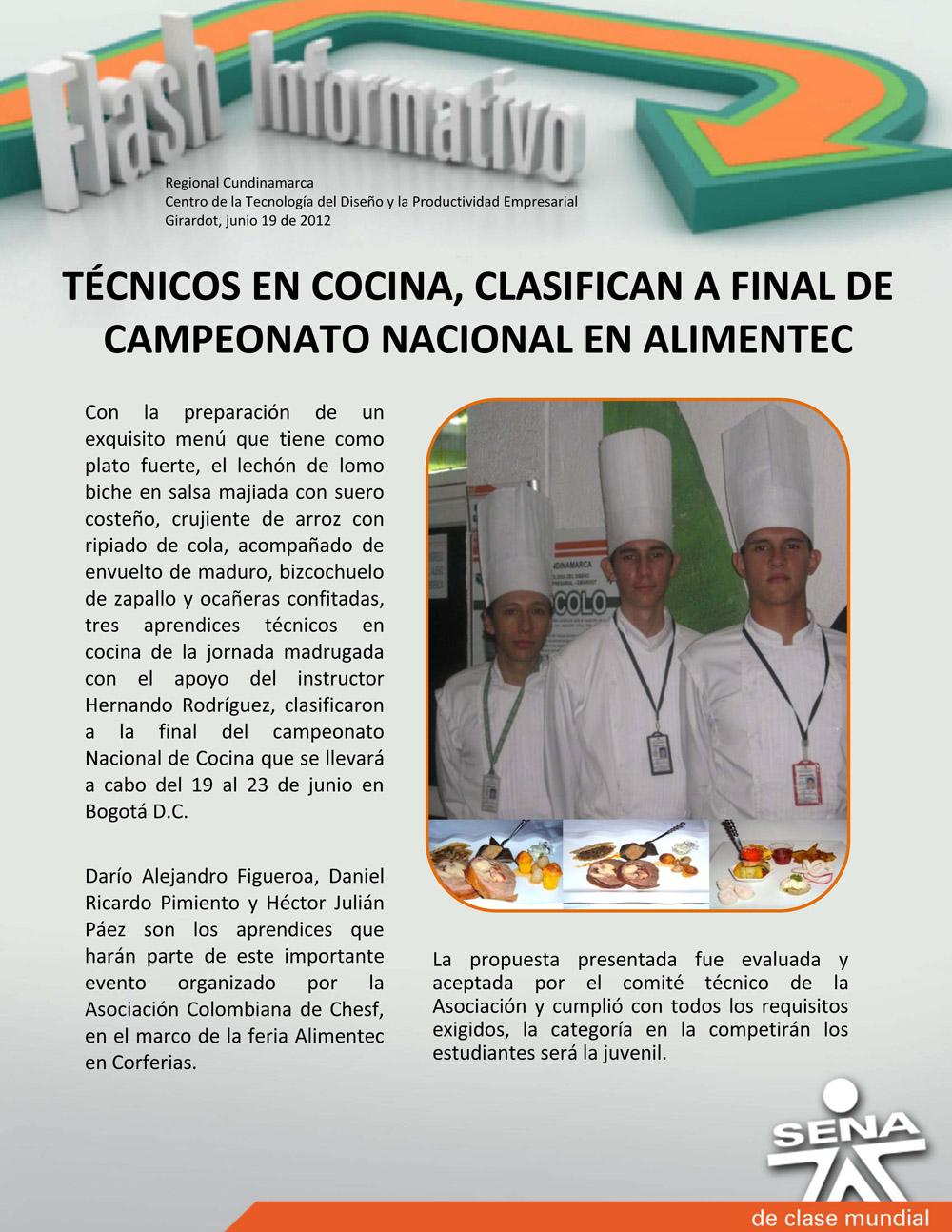 Centro de la tecnolog a del dise o y la productividad - Tecnico en cocina y gastronomia ...