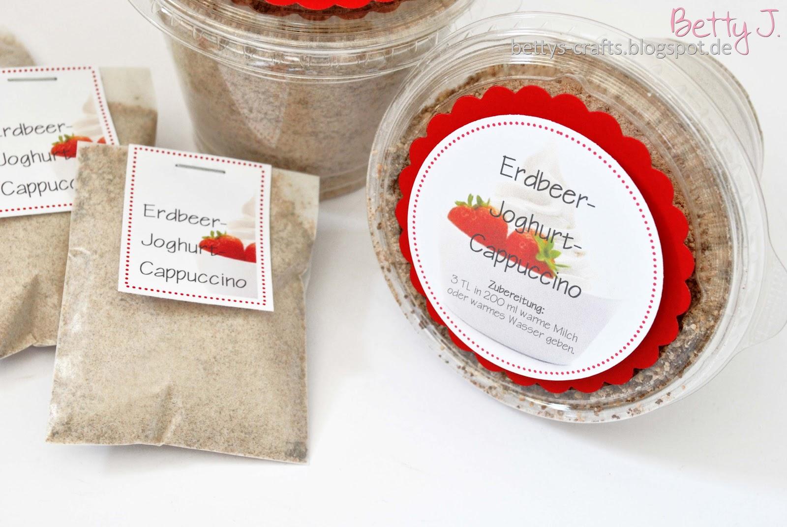 Bettys crafts erdbeer joghurt cappuccino pulver