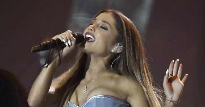Ariana Grande in Silver Bodysuit at MTV EMA 2014 -12