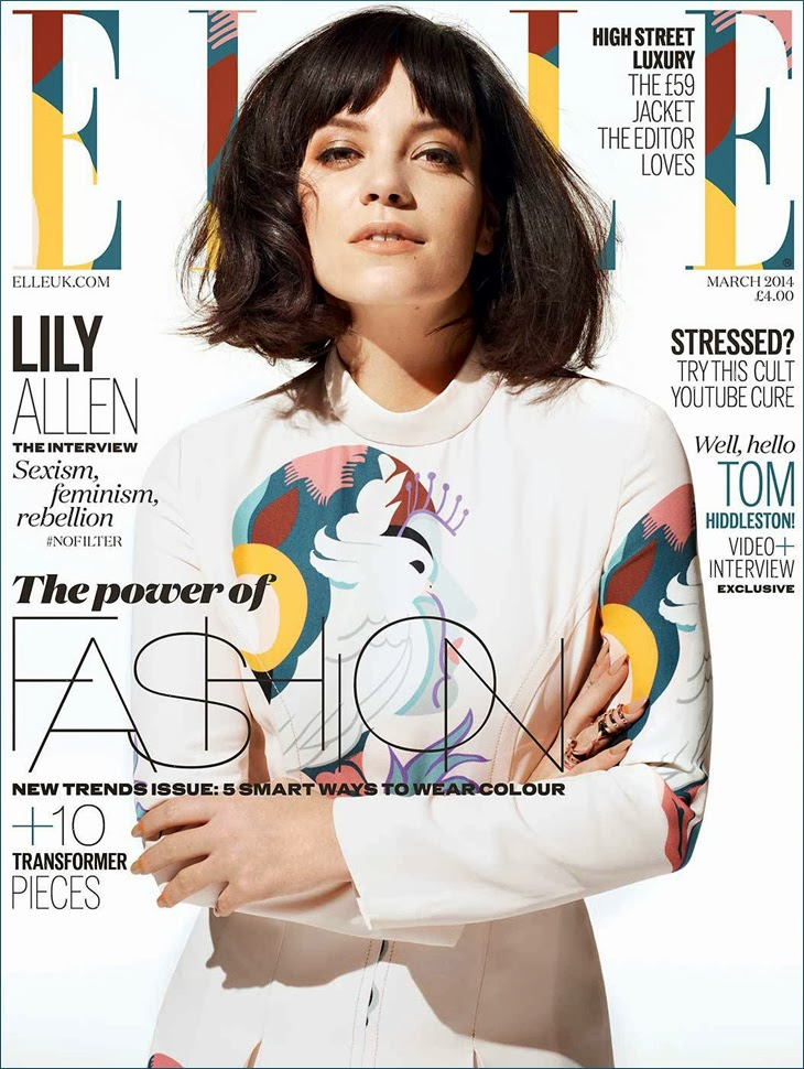 Lily Allen HQ Pictures Elle UK Magazine Photoshoot March 2014 By David Vasiljevic