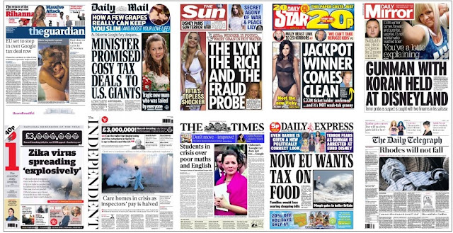 Jan 29 front pages