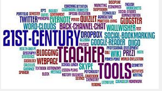 Image of many words that describe technology and teaching