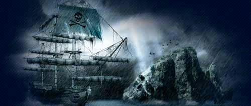 barco fantasma halloween