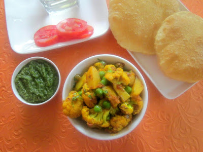 Gobi Aloo Matar - Make It Dhaba Style
