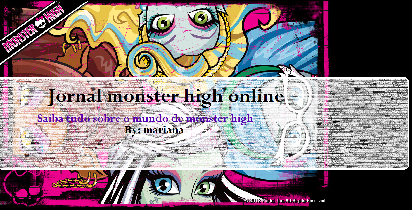 Jornal Monster High on line