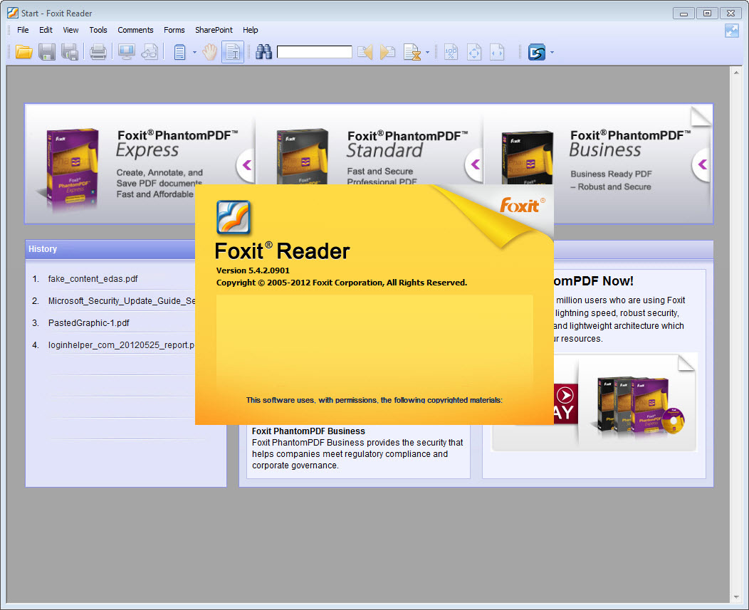Foxit Pdf reader 7.2.0.722 Overview and review.