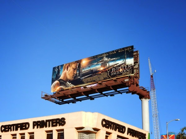 Jupiter Ascending movie billboard