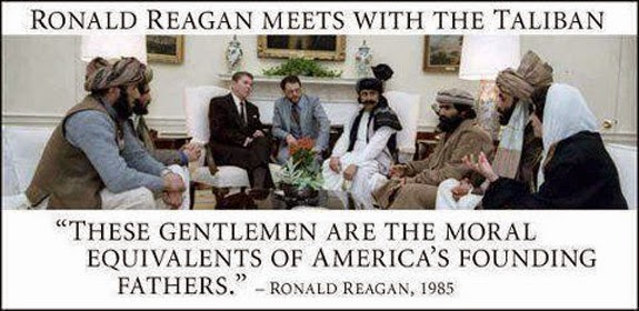 Ronald Reagan meets with the Taliban