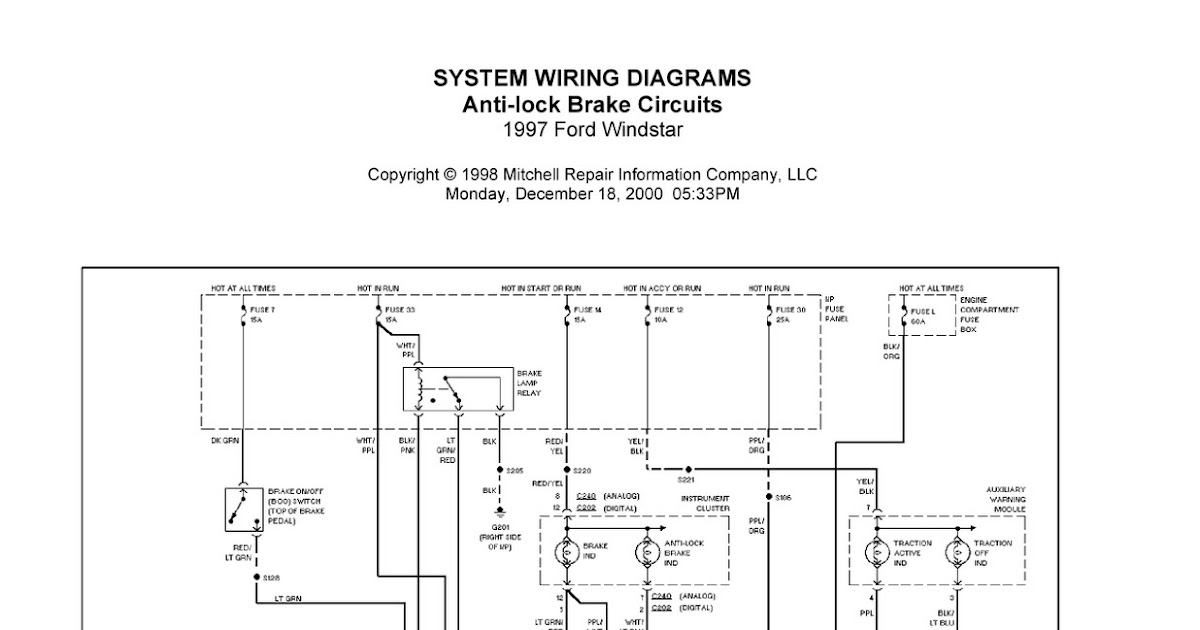 Ford Wiring Diagrams  1997 Ford Windstar System Wiring Diagrams Anti