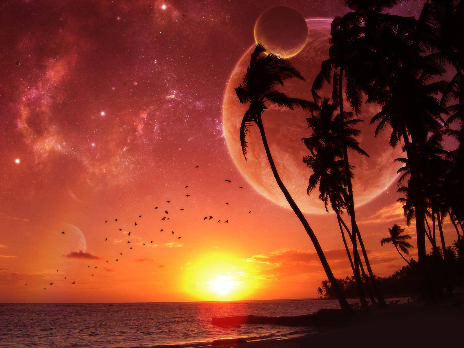 alien sunset wallpaper - photo #3