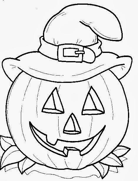 imagens aboboras halloween colorir - Desenhos do Dia das bruxas para colorir