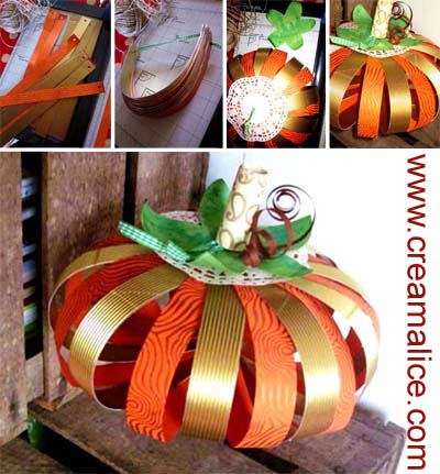 d co citrouille en papier diy halloween paper pumpkins. Black Bedroom Furniture Sets. Home Design Ideas