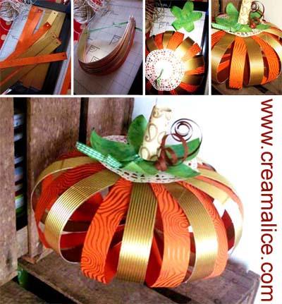 creamalice do it yourself d co citrouille en papier diy halloween paper pumpkins. Black Bedroom Furniture Sets. Home Design Ideas