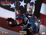 . Limited Edition Collectible FigurineIron Patriot (Movie Masterpiece .