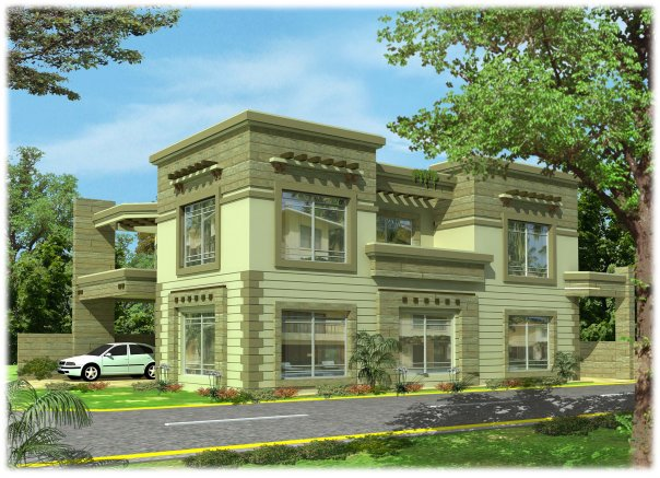 Hd Wallpapers: Lahore Pakistan 3D front elevation of House, Banglow ...