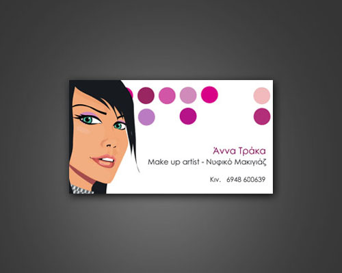 14 Make-Up Artist Business Card Examples | Mow Design | Graphic ...