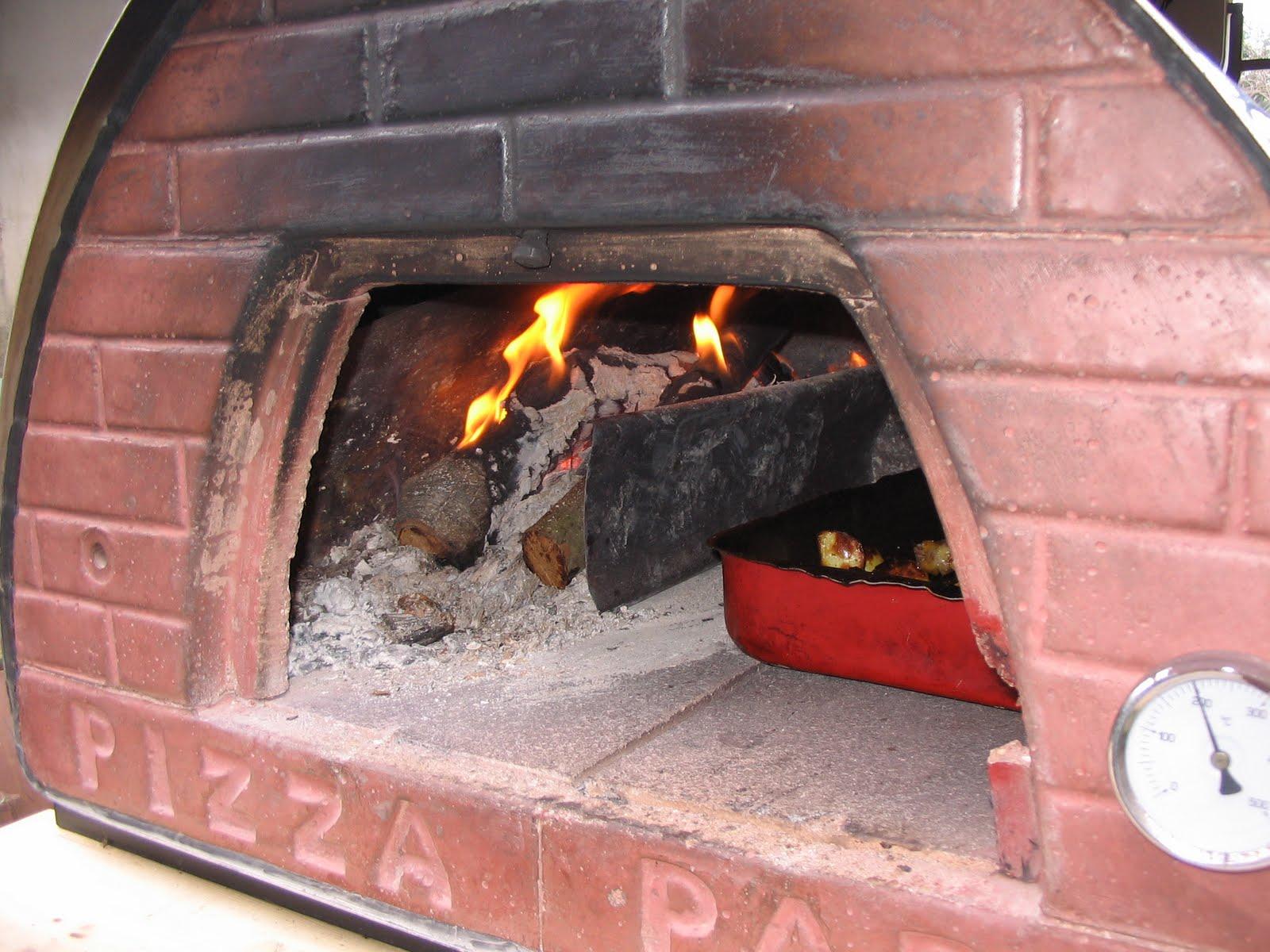 Mani in pasta pollo arrosto con patate cotto nel forno a for Temperatura forno pizza