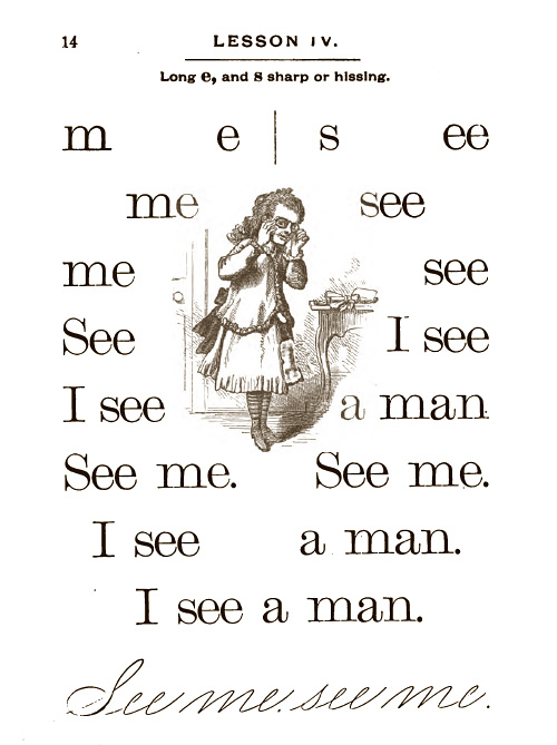 I see a man.  I see a man. See me. See me.