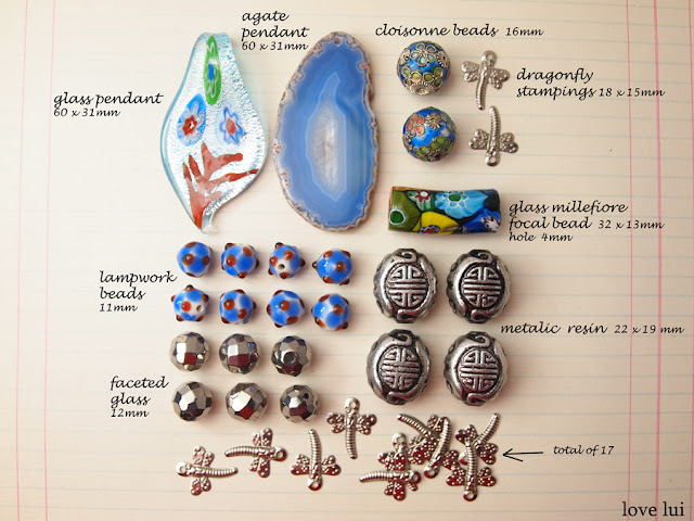 bead lot blue