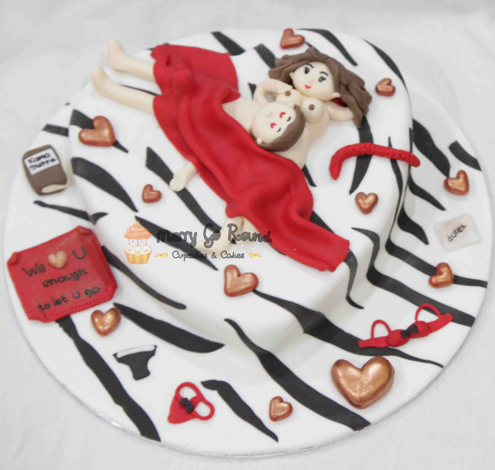 Merry Go Round Cupcakes Cakes Naughty Bed Cake For Bachelorette