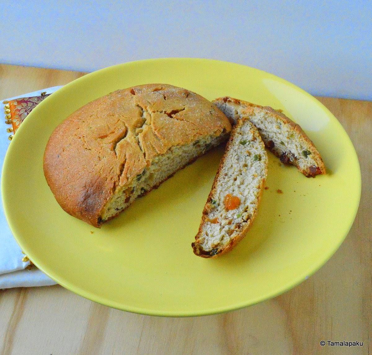 Julekake - Eggless Norwegian Christmas Bread ~ Tamalapaku