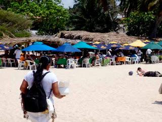 Beach Restaurant Huatulco Mexico