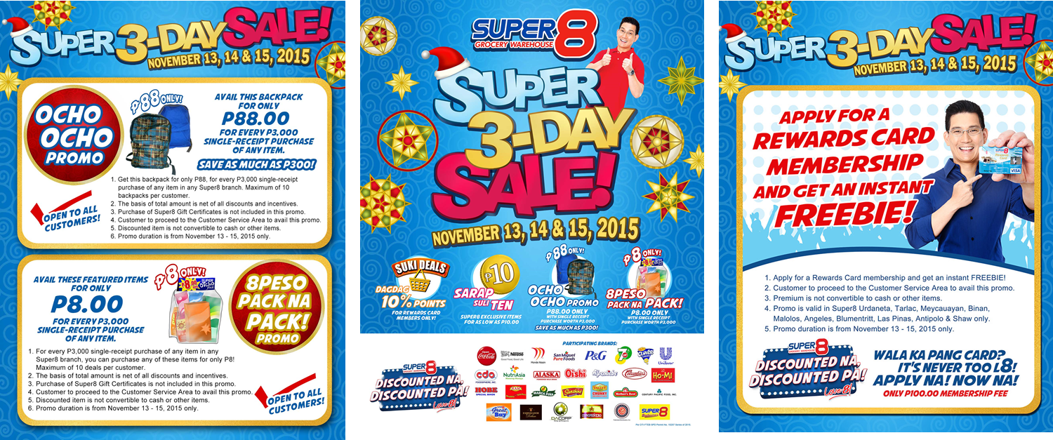 Super8 Grocery Warehouse 3 Day Sale