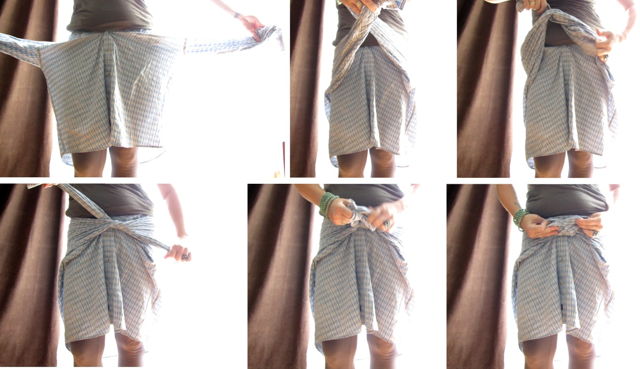 needle and nest design diy dress shirt bow tie skirt