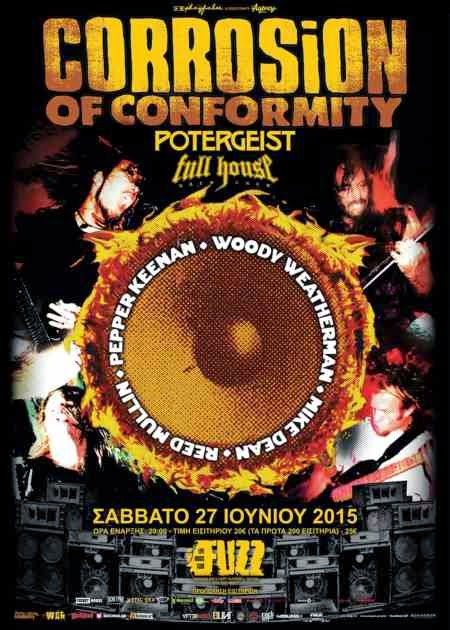 CORROSION OF CONFORMITY, POTERGEIST, FULL HOUSE BREW CREW @ Athens