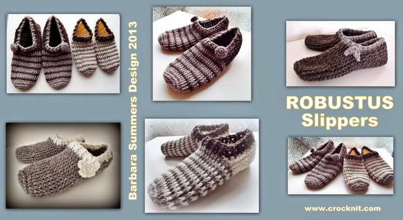 crochet man slippers robustus