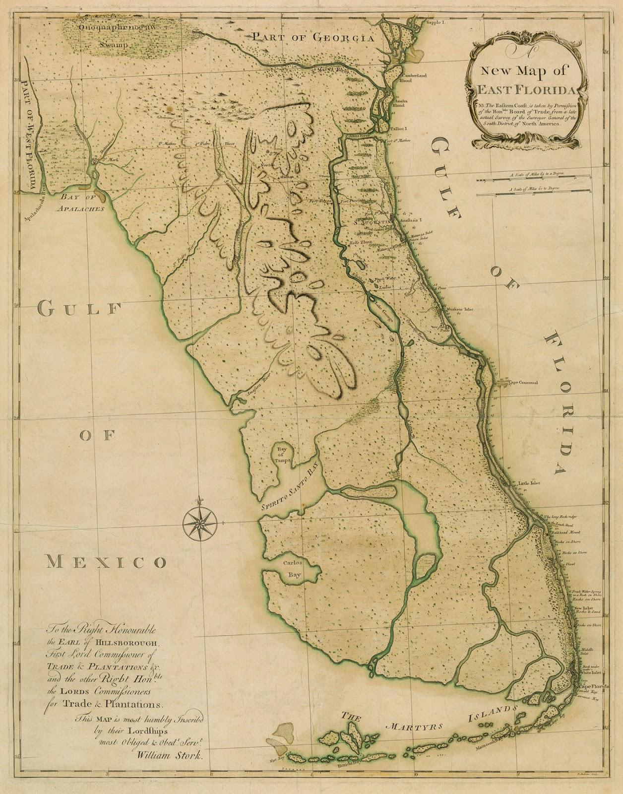 Tampa Bay History Center Artifact Spotlight William Storks - Map of east florida