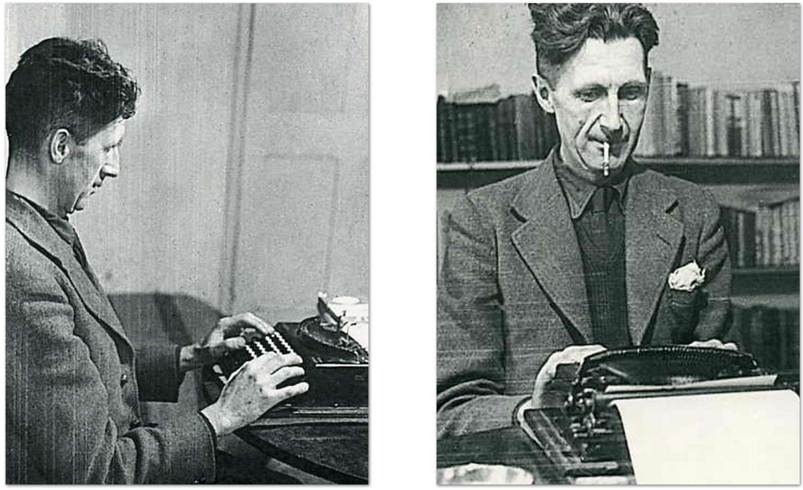 the life and writing of george orwell George orwell began his writing career as a journalist (view the bibliography for more information) this style is scene in his books he doesn't use fanciful metaphors and flowery language to depict specific scenes for example in.