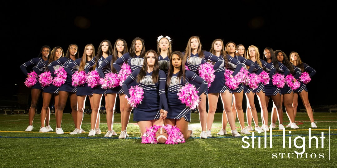 Carlmont High School Cheer Team Cheerleaders Sport Photos in Belmont by Still Light Studios