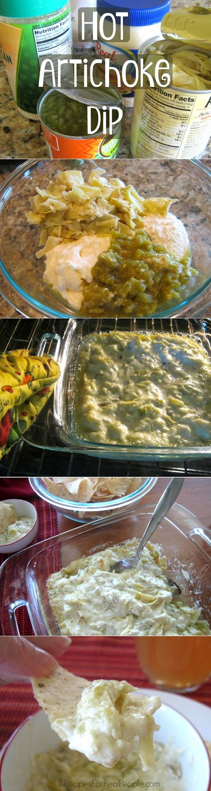Hot Artichoke Dip recipe with step-by-step pictures.