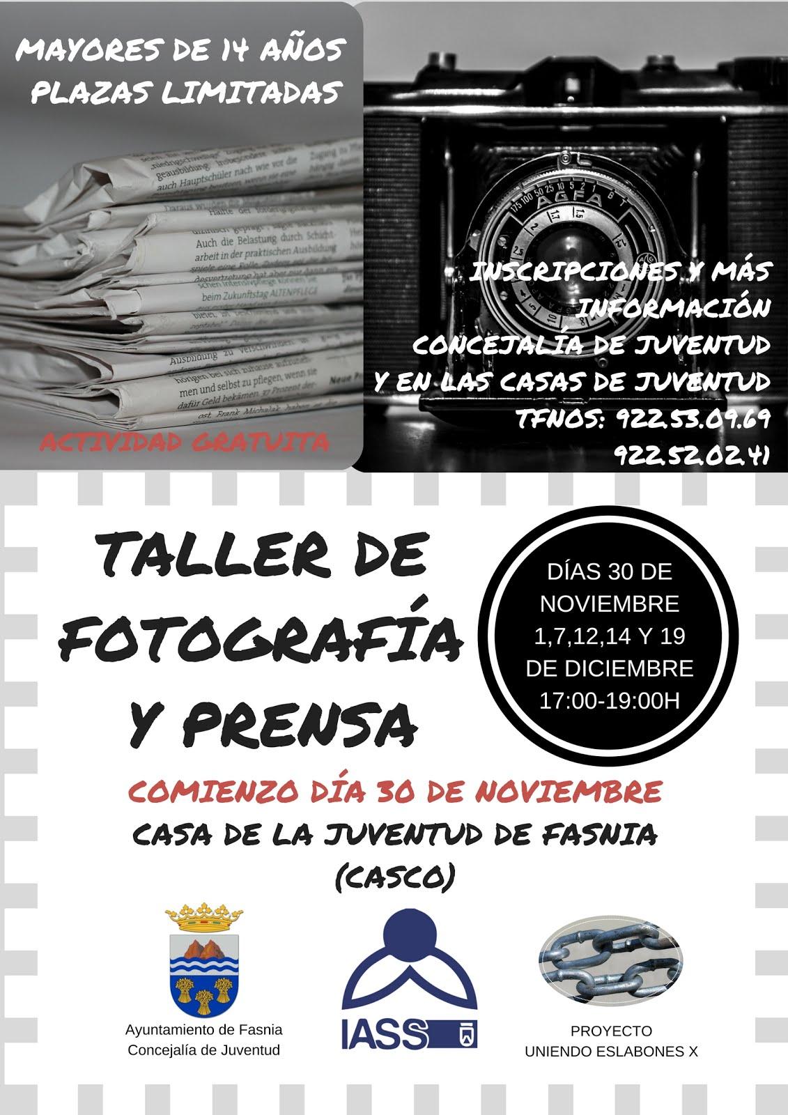 TALLER DE FOTOGRAFÍA Y PRENSA