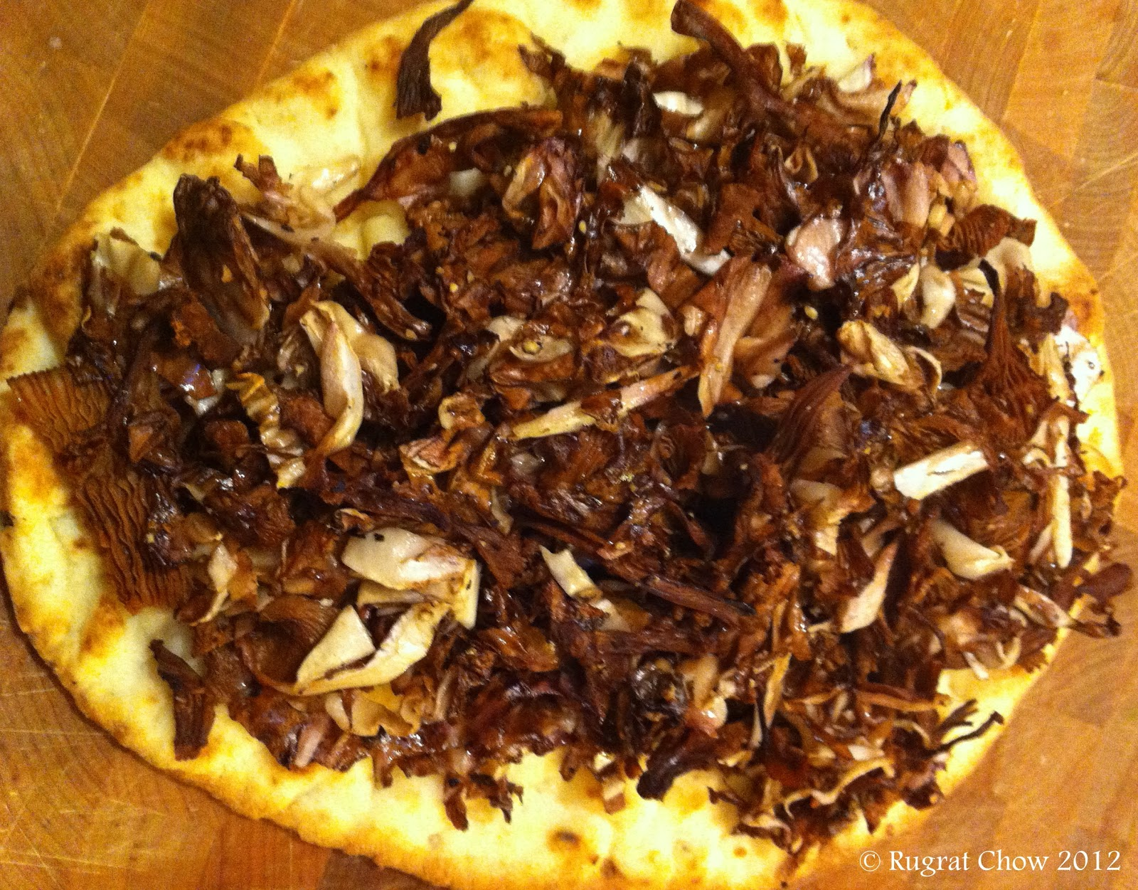 Whole Food Life ... : Radicchio & Chanterelle Mushroom Pizza