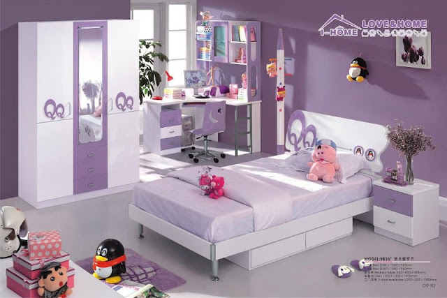 d coration chambre fille violet. Black Bedroom Furniture Sets. Home Design Ideas